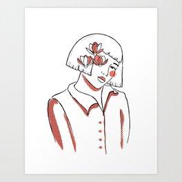 Flower Blossom Inside Me 2 Art Print