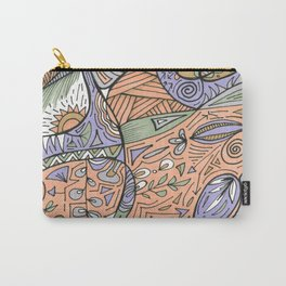 Peach Day Carry-All Pouch