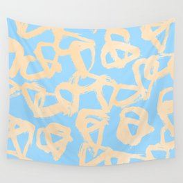 Sweet Life Triangle Dots Orange Sherbet + Blue Raspberry Wall Tapestry