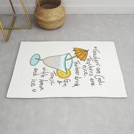 Teachers are cool , education poetry Rug