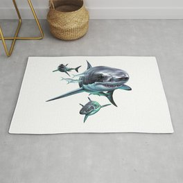 Great White Sharks Rug