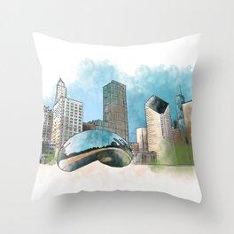 Chicagoland Throw Pillow
