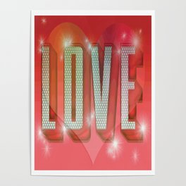 LOVE Pop Art Poster