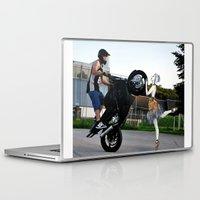 moto Laptop & iPad Skins featuring moto vs dance by CokecinL