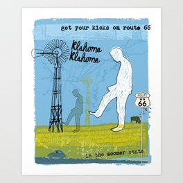 Get your Kicks on Route 66 Art Print