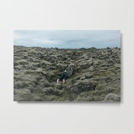 Icelandic Crawl Metal Print