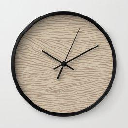 Irregular Lines / Brown Sugar on Beige Wall Clock