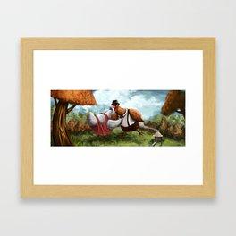 Chicken Dancing Framed Art Print