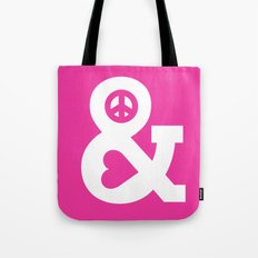 Peace and Love (pink edition) Tote Bag