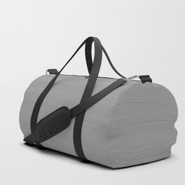 Soft Light Grey Brushstroke Texture Duffle Bag