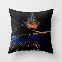 Abstract Dramatic Night Lights Throw Pillow