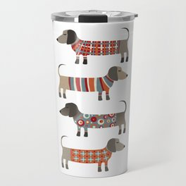 Sausage Dogs in Sweaters Travel Mug