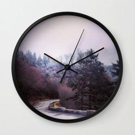Winter On Top Wall Clock