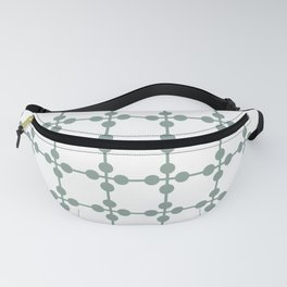 Droplets Pattern - Sage Green & White Fanny Pack
