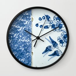Old traditional Dutch blue Delftware tiles Wall Clock