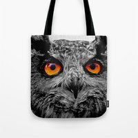 anaconda Tote Bags featuring YOU'RE THE ORANGE OF MY EYES by Catspaws
