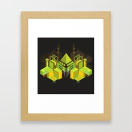 Temple of the Weeping Pyramid Framed Art Print