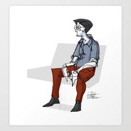 Subway Sketch 01 Art Print