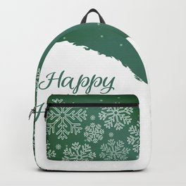 Abstract Winter Holiday - Green 47 Backpack