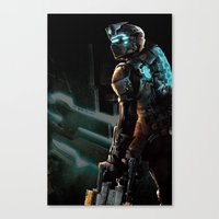 dead space Canvas Prints featuring Dead Space  by JAGraphic