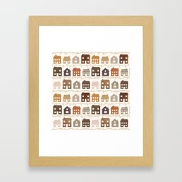 Modern Country Farmhouses Framed Art Print
