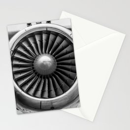 Vintage Airplane Turbine Engine Black and White Photography / black and white photographs Stationery Cards