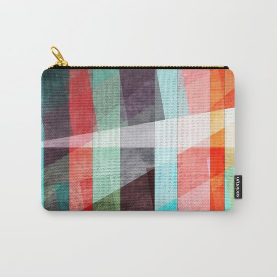 Colorful Grunge Stripes Abstract Carry-All Pouch