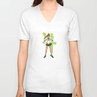 sailor jupiter V-neck T-shirts featuring Sailor Jupiter by Puck