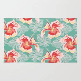 Hawaiian Flowers Rug