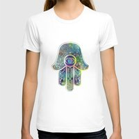 hamsa T-shirts featuring Hamsa by Klara Acel