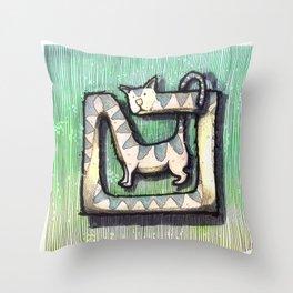 SQUARE CAT Throw Pillow