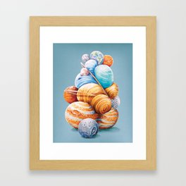 Planetary Pile-Up Framed Art Print