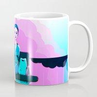 shopping Mugs featuring Shopping by IOSQ