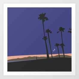 The Beach at Night Art Print