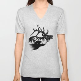 THE ELK AND THE BEAR Unisex V-Neck