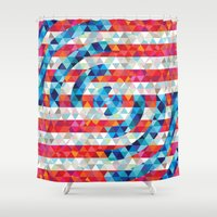 america Shower Curtains featuring Abstract America by Fimbis