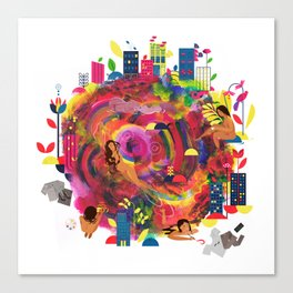 In The City: Delights Canvas Print