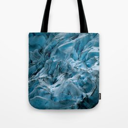 Blue Ice Glacier in Norway - Landscape Photography Tote Bag