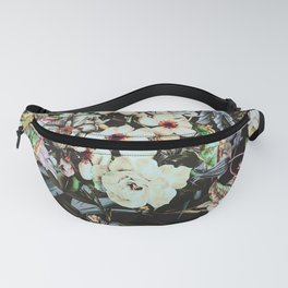 Dark flowery colorful bouquet 01 Fanny Pack