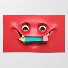 The Red Eat a Pencil Rug
