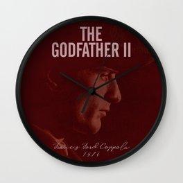The Godfather, Part II, Robert De Niro, Francis Ford Coppola, alternative movie poster, cult film Wall Clock