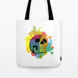 Skull White Tote Bag