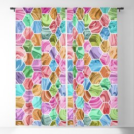 Marble Hive Jewels Blackout Curtain