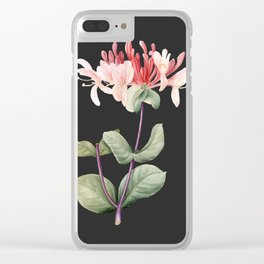Honeysuckle on Charcoal Clear iPhone Case
