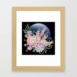 succulent fullmoon 6 Framed Art Print