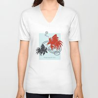 life aquatic V-neck T-shirts featuring Happy Aquatic Days by Wind-Up Sprout Design