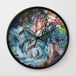 Black Moor Goldfish Wall Clock