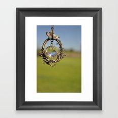 here's my heart Framed Art Print