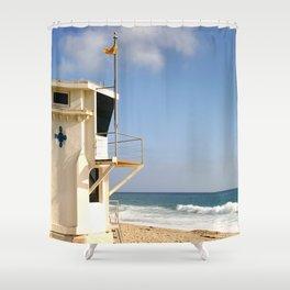 Laguna Beach Lifeguard Tower Shower Curtain