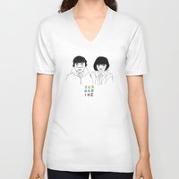 cactei V-neck T-shirts featuring Submarine by ☿ cactei ☿